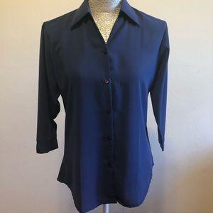 Button Down Collard Women's Long Sleeve Blouse